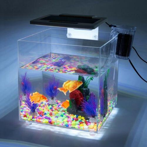 Mini Square Acrylic Baby Tank LED Light Hatchery 15L