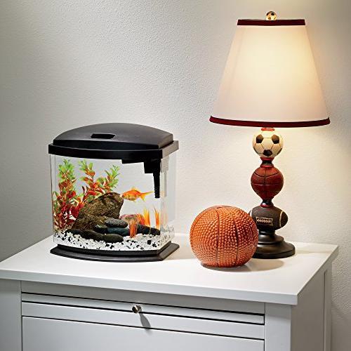 Aqueon MiniBow Aquarium Starter Kits with Lighting, Gallon,