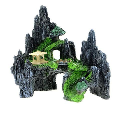 Saim Mountain View Aquarium Ornament House Cave