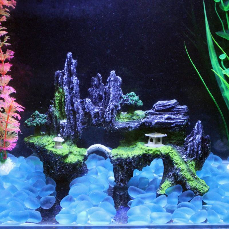 Mountain View Aquarium Rockery Hiding Cave Tree Fish Tank Or