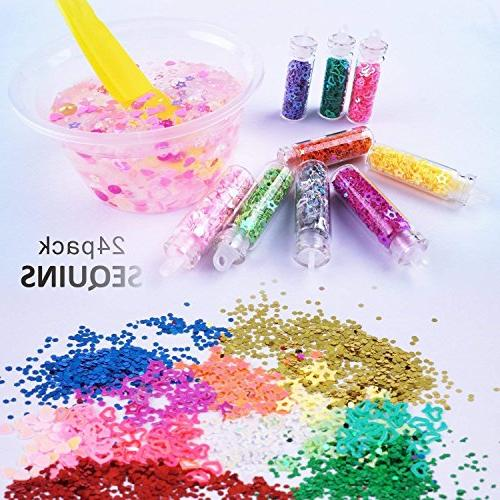 Mucus Supplies Kit, Packs Fruit Flakes, Sequins, Tank Candy Accessories, Making, Children's Party Set