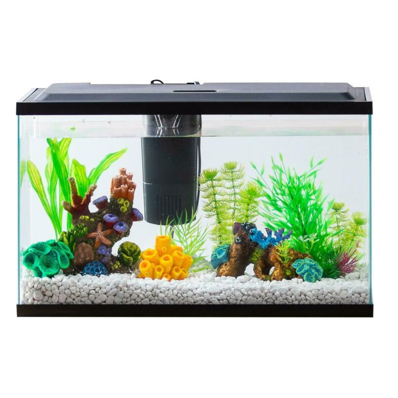 Aquarium Starter Kit Fish Tank 10 Gallon Led Light Aqua Cult