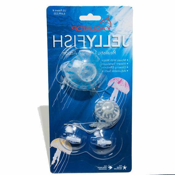 new 2pk realistic jellyfish for aqarium fish