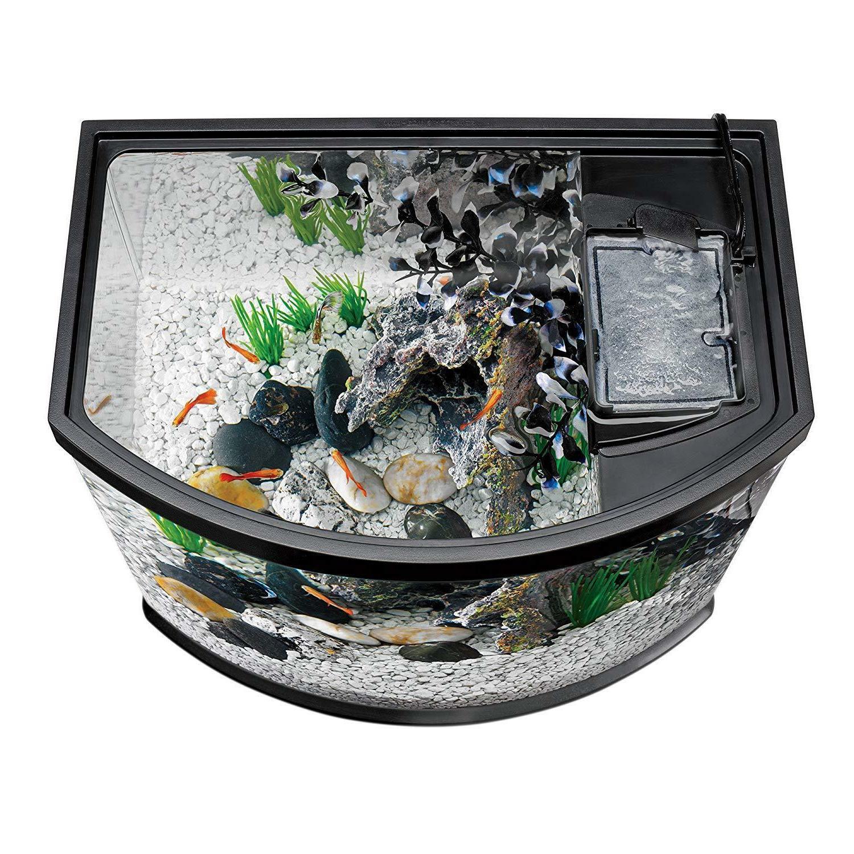 New Aqueon Aquarium Starter Kits LED Lighting, 5 Black