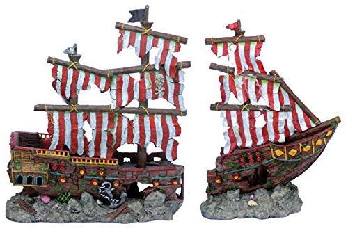 penn plax striped sail shipwreck