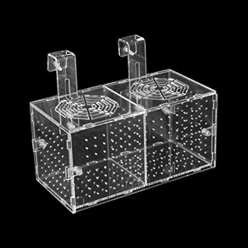 uxcell Aquarium Double-Deck Fish Hatchery Breeding Box Clear