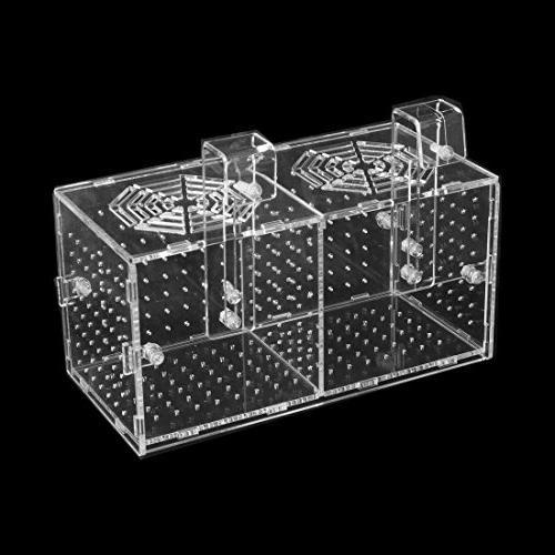uxcell Aquarium Double-Deck Fish Hatchery Floating Breeding Box
