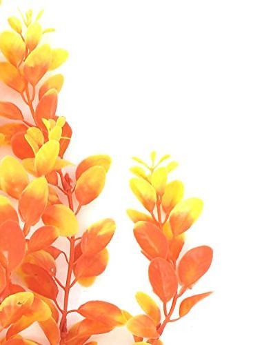 "uxcell Plastic Tank Aquarium Plants Ornament 18"" Height"