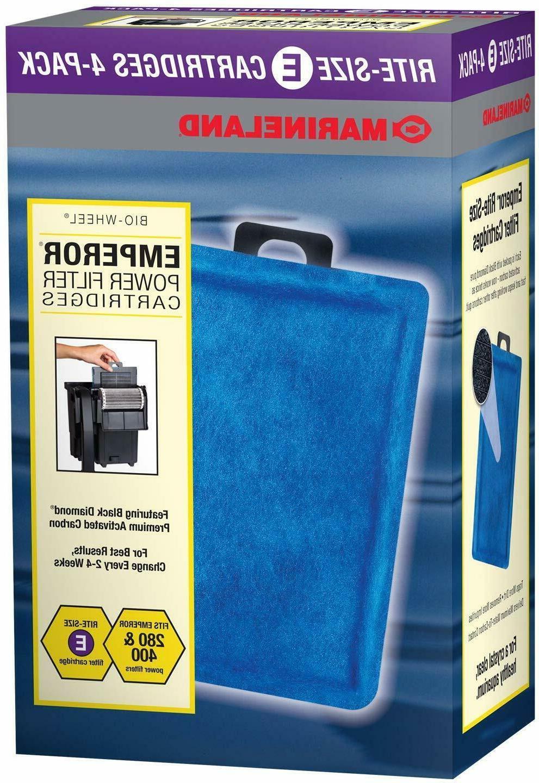 Marineland Rite-Size E Filter Cartridge Refills Fits Emperor