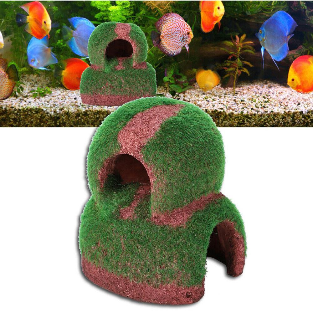 Aquarium Fish Hide Cave Simulation Shrimp Pot Fish Tanks Lan