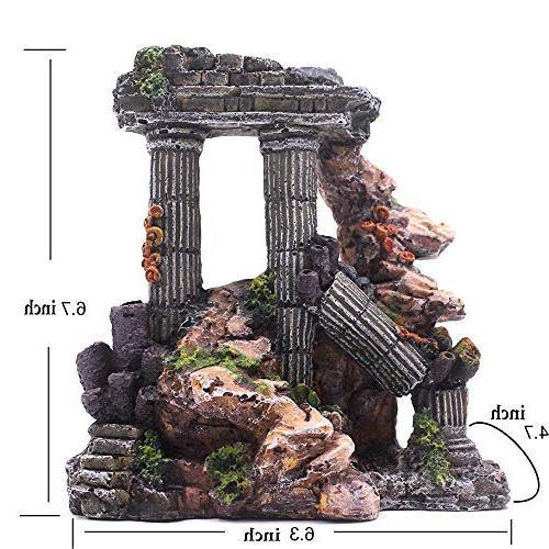 Evergreen Simulation Column Tank Ruins Decor