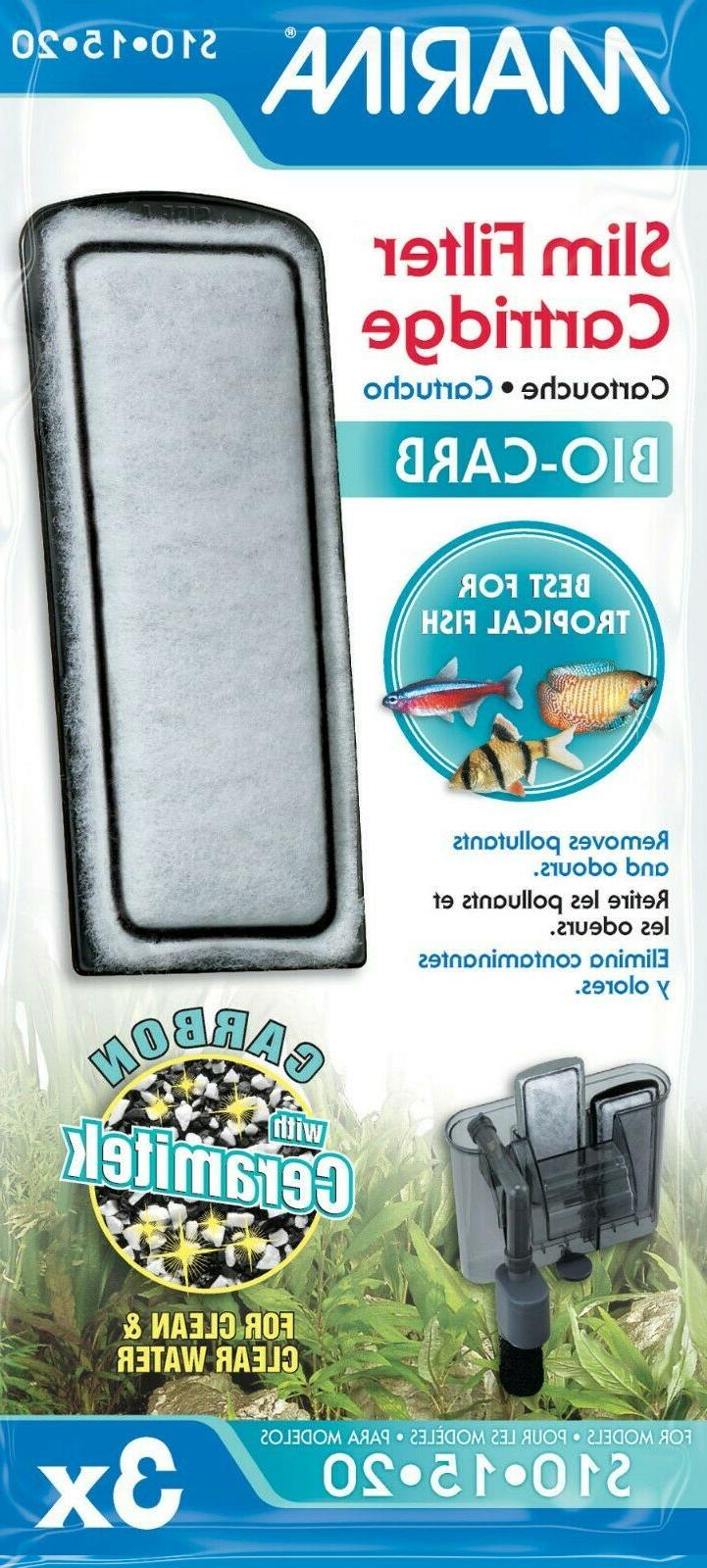 Marina Slim Filter Carbon Plus Ceramic Cartridge,  , 3 Cartr