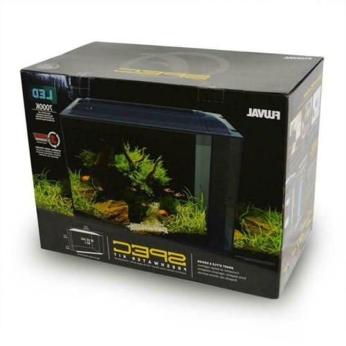 SPEC V 16 GALLON FRESHWATER AQUARIUM KIT  BLACK - FLUVAL