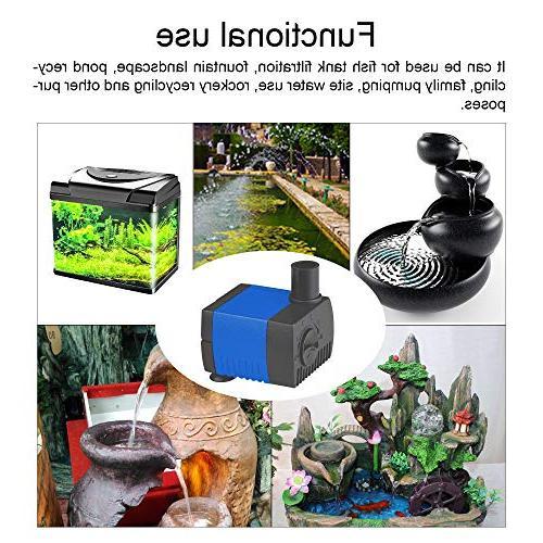 JAJALE 93 Water Pump Quiet For Pond,Aquarium,Fish Tank,Fountain,Hydroponics