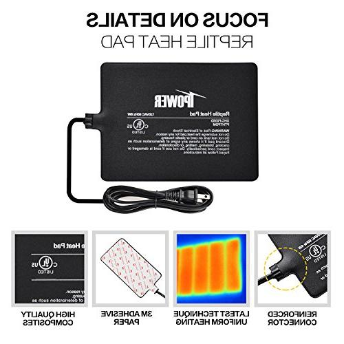 "iPower 6""x Watt Terrarium Pad Under Tank Heater Mat with Thermostat"