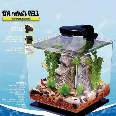 Tetra 3 Aquarium Kit with Lighting Included