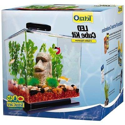 tetra led cube shaped 3 gallon aquarium
