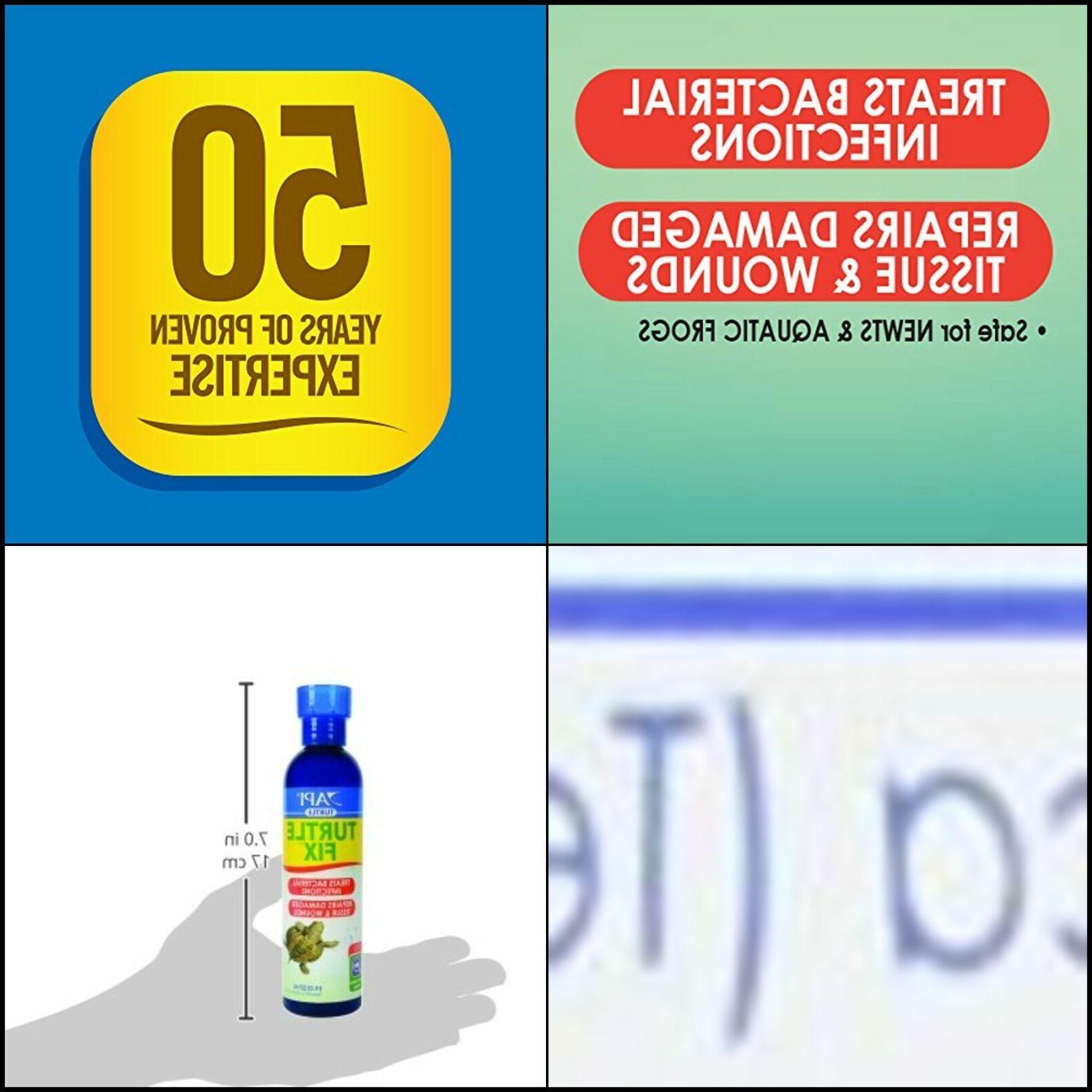 API TURTLE FIX Antibacterial Turtle Remedy 8-Ounce Bottle