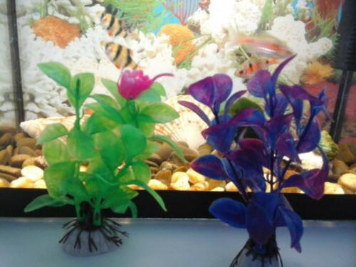Underwater Plant Fish Tank Decor Accessories Plastic