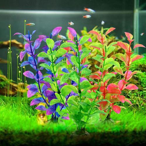 underwater artificial plant grass fish tank aquarium