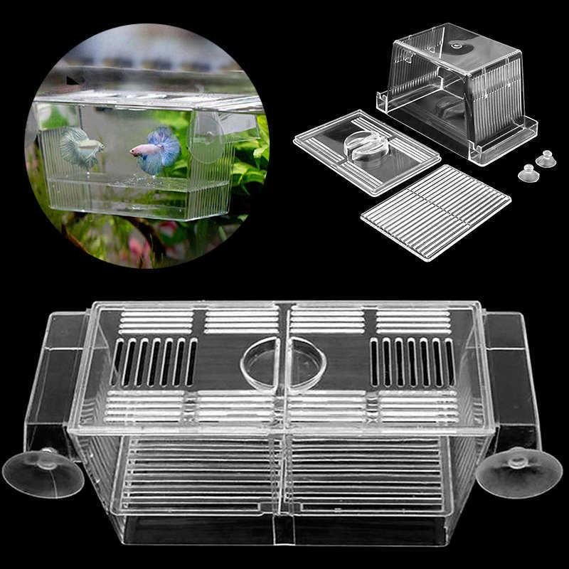 Aquarium Fish Tank Guppy Breeding Box Tank Incubator Hatcher