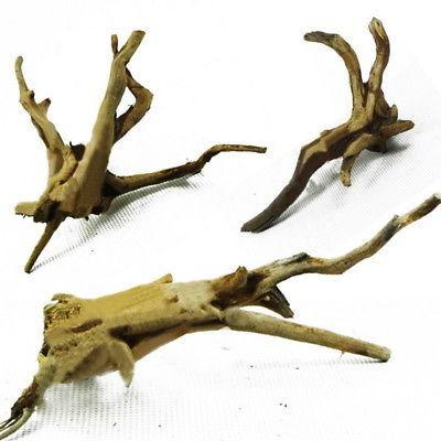 US HOT Driftwood Natural Trunk Plant Aquarium Ornament