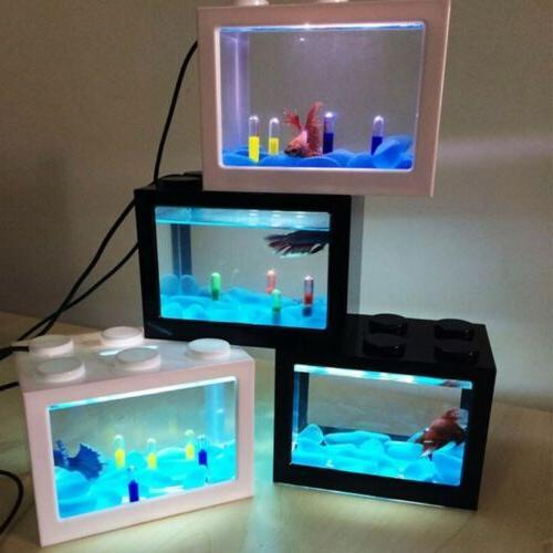 usb mini aquarium fish tank with led