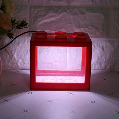 USB Mini Aquarium Fish Tank Light Fish Cylinder