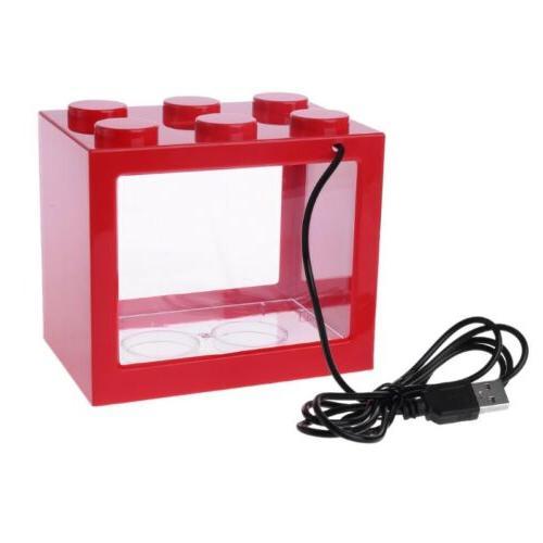 USB Mini Tank With Light Fish Cylinder