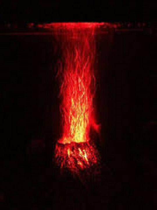 Volcano Internal Pump LED Bubble