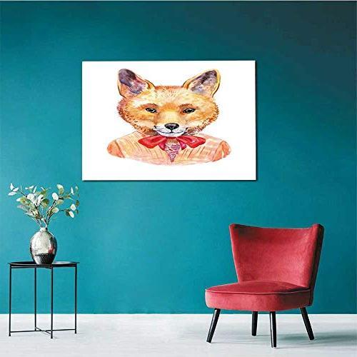 homehot Fox Hipster Hand-Drawn Animal Mural