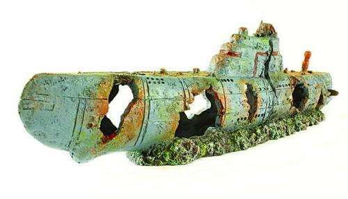 xl submarine aquarium ornament 23 inches long