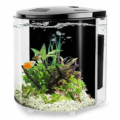 1.4 Gallon Betta Aquarium Starter Kits Fish Tank with LED Li