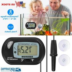 LCD Digital Fish Tank Thermometer Aquarium Probe Water Tempe