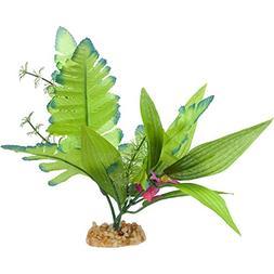 Imagitarium Leafy Green Silk Aquarium Plant, Medium
