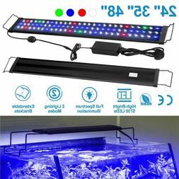 LED Aquarium Light Multi-Color Full Spectrum Fish Tank Plant