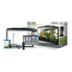 LED Aquarium Starter Kit Fish Tank Set 20, 10, 5 Gallon Desk