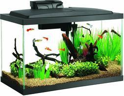 LED Fish Aquarium Starter Kit, 10 gal tank, Heater, Power Fi