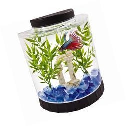 Tetra LED Half Moon Betta Aquarium, Fish Tank