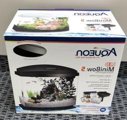 AQUEON LED Mini Bow 5 Gallon Desktop Aquarium Kit - WHITE -
