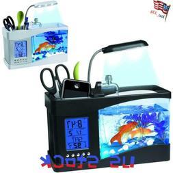 LED Mini Fish Tank Lights Aquarium Self Cleaning Desktop