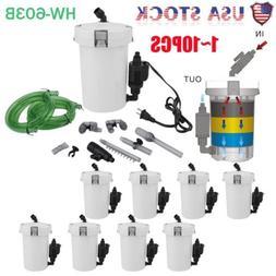 LOT Aquarium Fish Tank External Filter 6W HW-603B Canister W