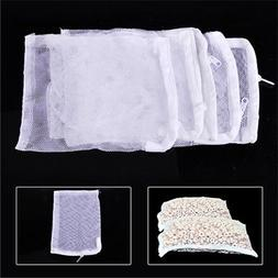 Lots Nylon Aquarium Fish Tank Pond Filter Media Zip Mesh Net