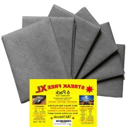 Streak Free XL Microfiber Cloths - Commercial Grade - 6 Pack