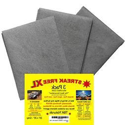 Streak Free XL Microfiber Cloths - Commercial Grade - 3 Pack