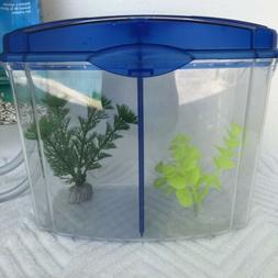 Mini Aquarium Plastic Fish Tank with Accessories Small Fish