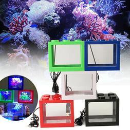 Mini Clear USB LED Goldfish Betta Fish Tank Ornament Aquariu