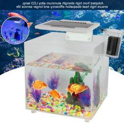 Mini Square Acrylic Aquarium Baby Fish Tank LED Light Breedi