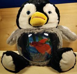 Mott Penguin Plush and Beta Fish Bowl