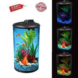 NEO Aquarium Kit 360 Fish Tank With LED Light 3-Gallon Filte